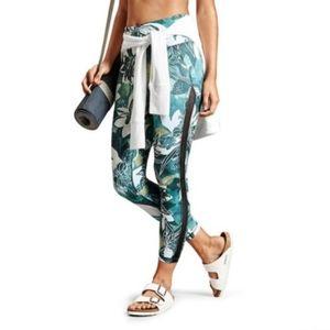 Athleta tropical mesh chaturanga 7/8 leggings